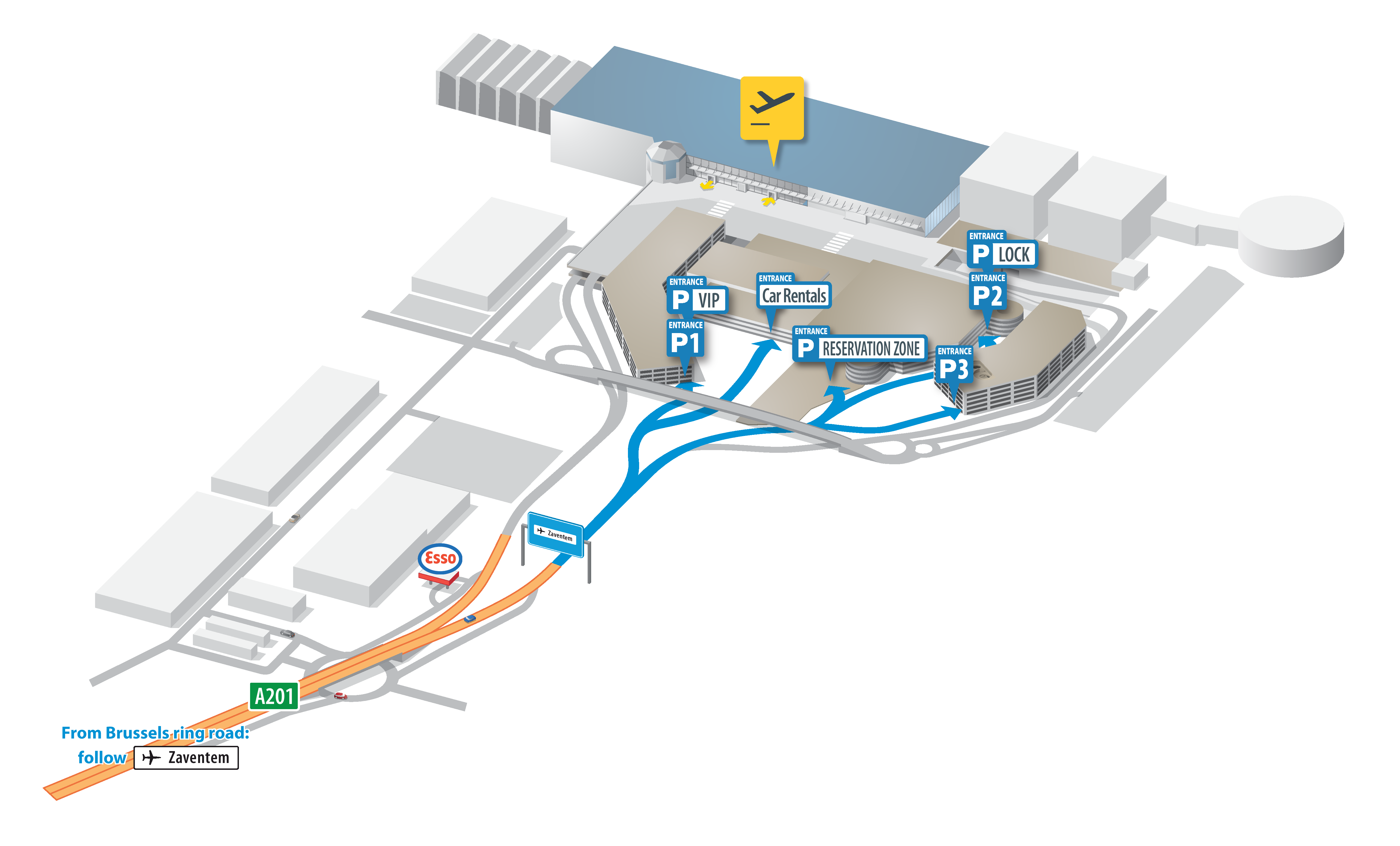 Brussels Airport Map Zaventem BRUXX - Brussels airport map