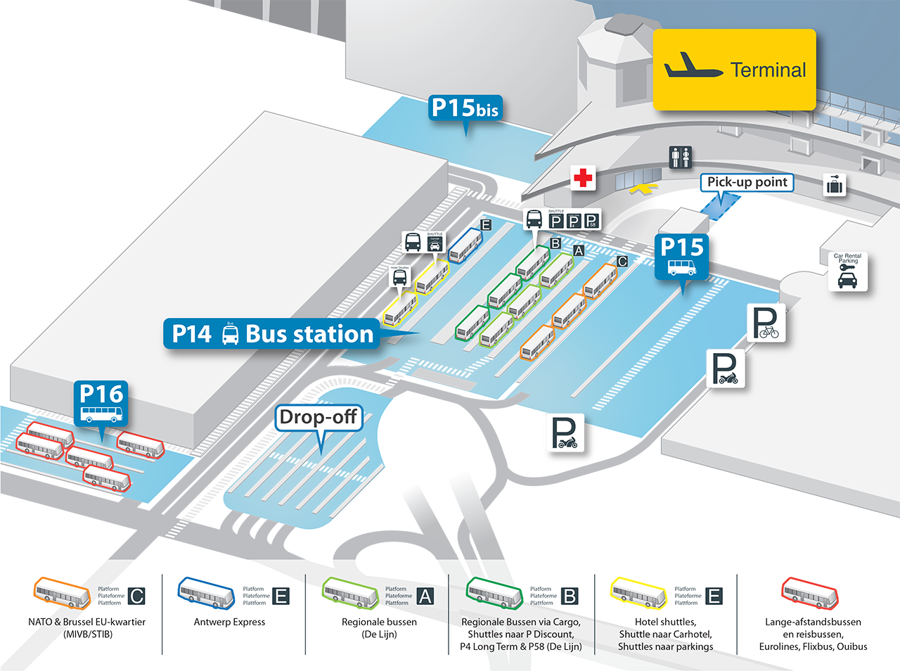 Brussels National Airport Map Brussels Airport map – Zaventem | BRUXX