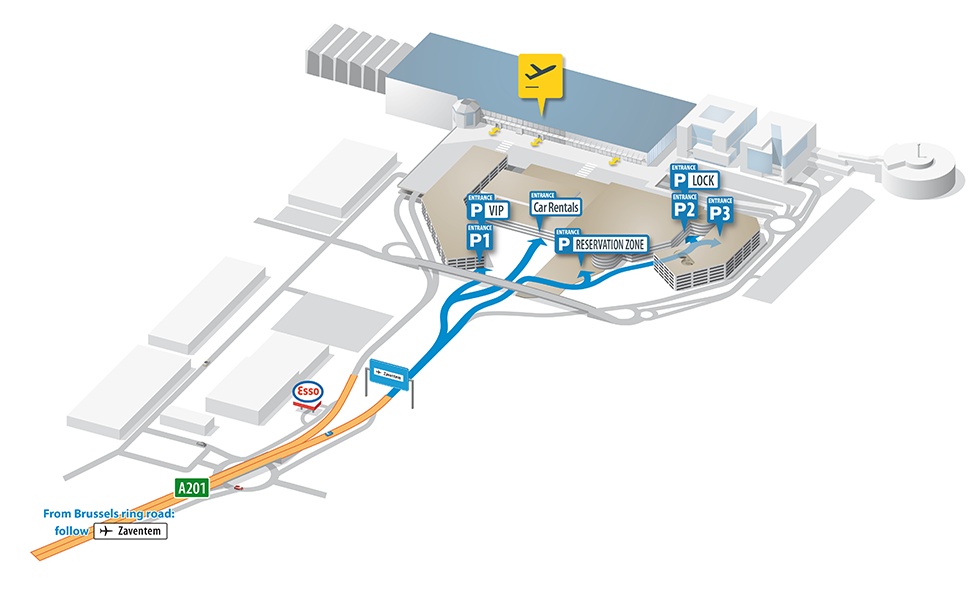 Map Of Brussels Airport Brussels Airport map – Zaventem | BRUXX